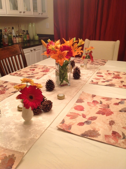 my simple table setting!