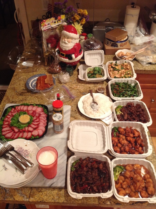 Chinese food to welcome 2014!