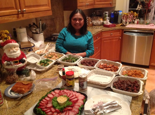 picture with our NYE food!