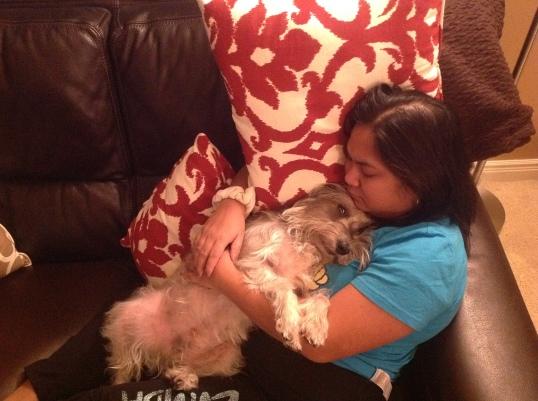 my cuddle buddy,not interested to watch Bea Alonzo and John Lloyd!