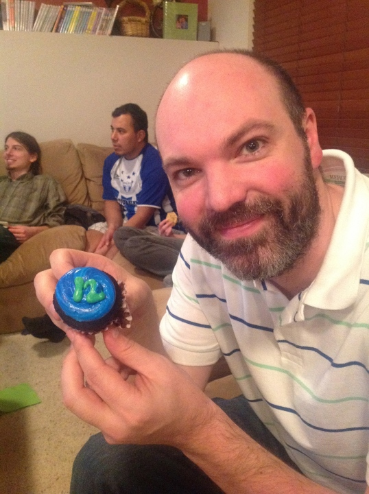 hubby and 12thman cupcake!