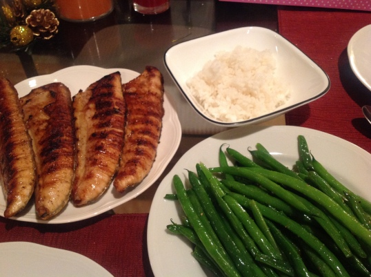 grilled tuna belly,green beans
