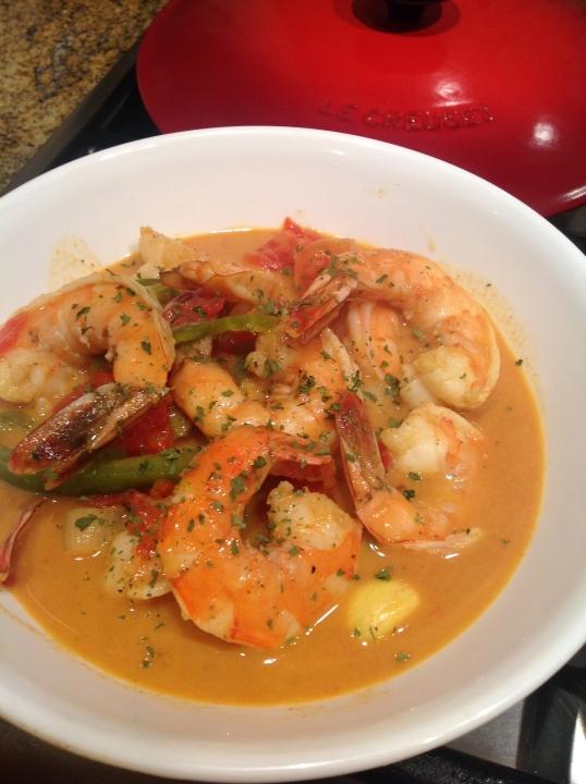 Coconut Shrimp Curry(recipe:tastefoodblog.com)