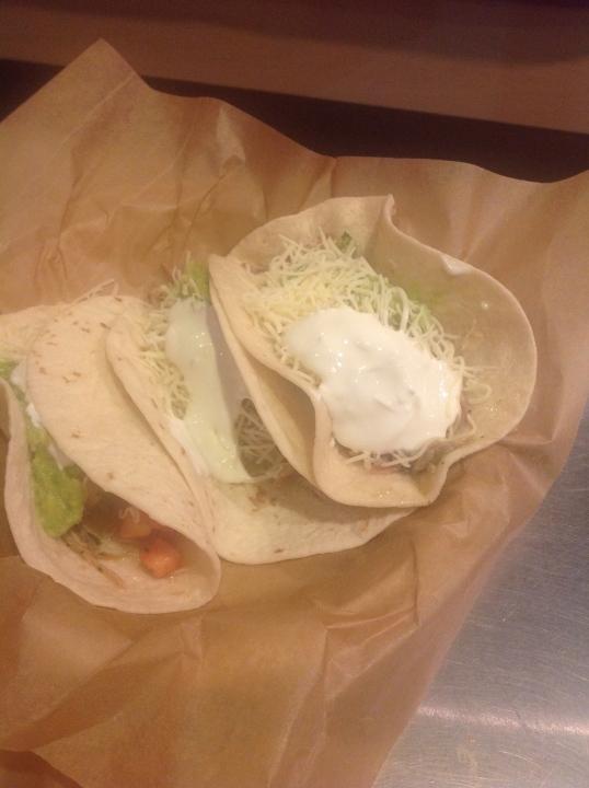 soft tacos at chipotle