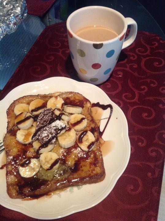 banana nutella french toast