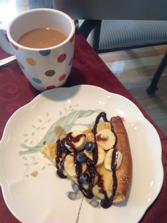 I added chocolate and maple syrup