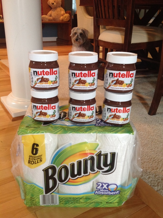 Bartells:after coupon I paid $13 ( I had BOGO coupons for the nutella,they're onsale for $3)