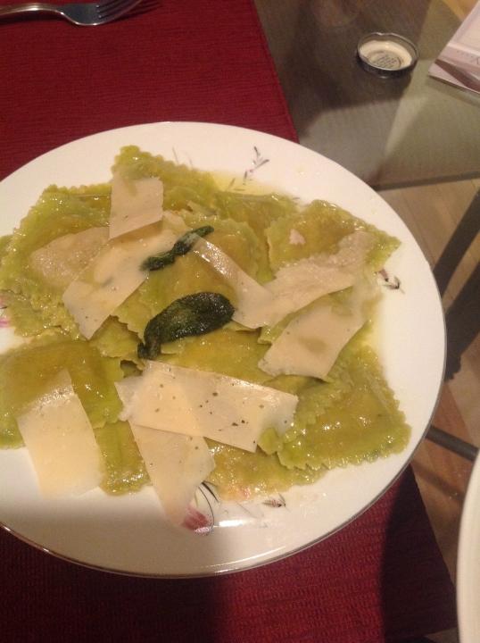 Ravioli (trader joe's) in sage butter