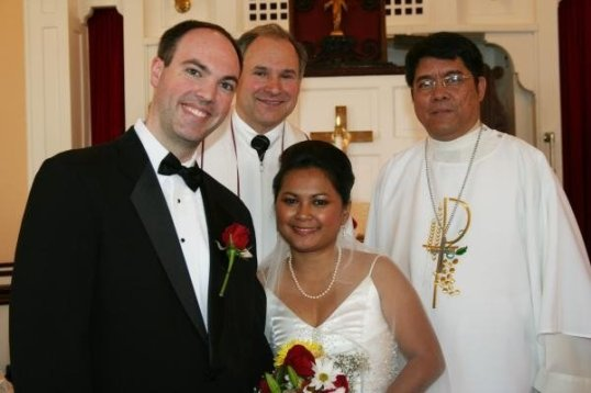 with the Pastors who married us!