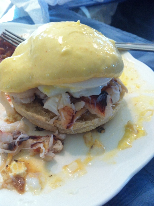 Crab Benedict with Hollandaise sauce