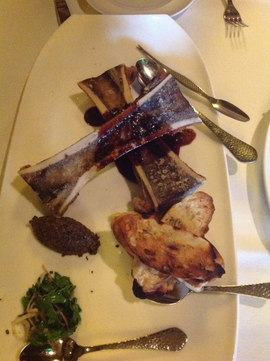 Roasted Bone Marrow!so rich and good but not the healthiest!