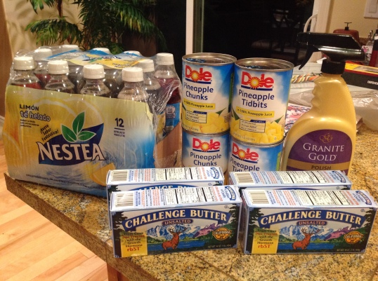 Fred Meyer: The Nestea drink was free (free friday deal). I stocked up on the butter too (after coupon i paid like 1.50$ each,normally its $4 each)I paid $11