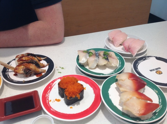 sushi lunch after church