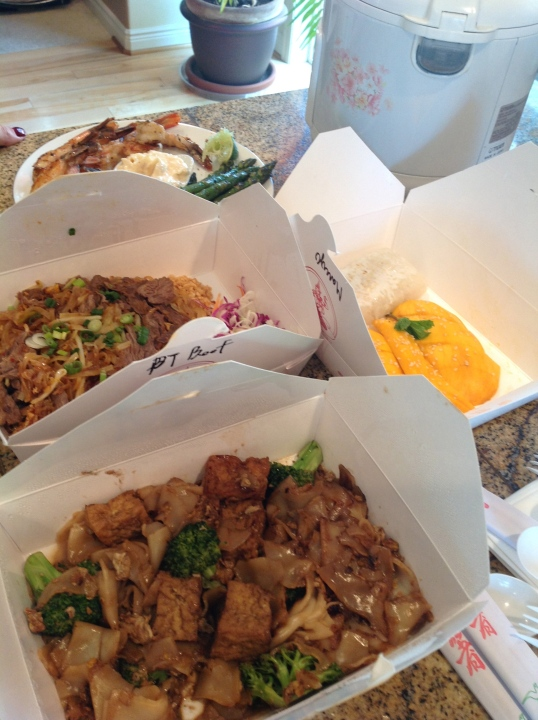 Thai food for sunday dinner