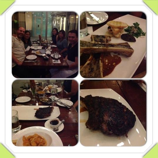 John Howie steak dinner