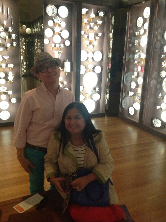 Richard and I at the porcelain room (Seattle Art Museum!)