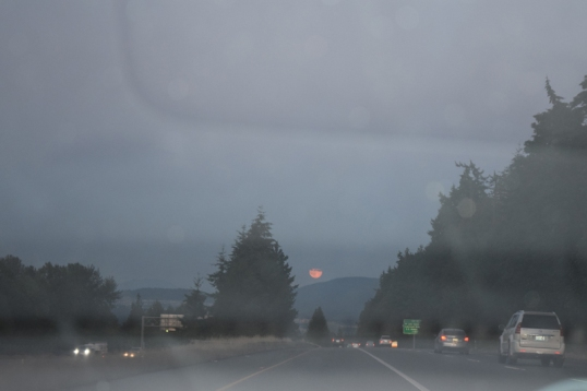 on our way home,we saw the super moon tonight. And this is my attempt to capture it but I failed big time!lol