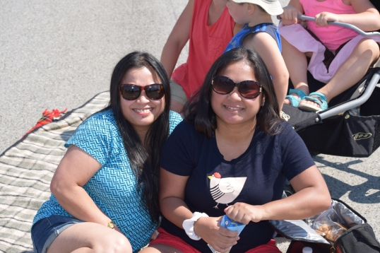 Sis and I having a little picnic with friends while waiting for the Blue Angels!