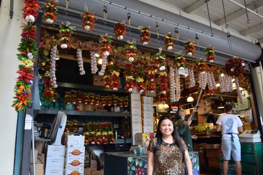 How cute is this store with all the hanged chilis?