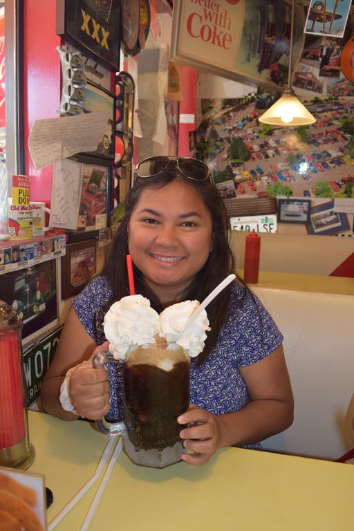 I had to have my fave drink that time because it was National Root Beer day!