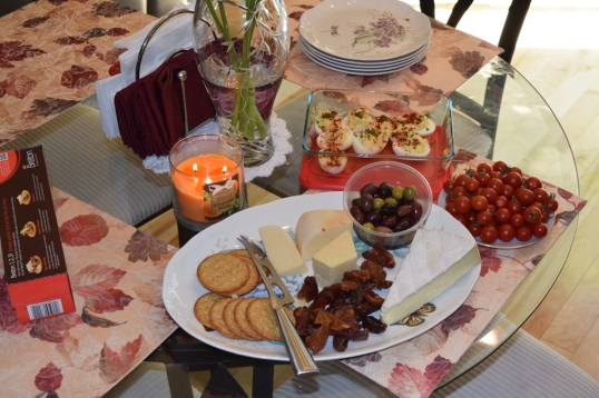appetizers;our cherry tomatoes were a hit!