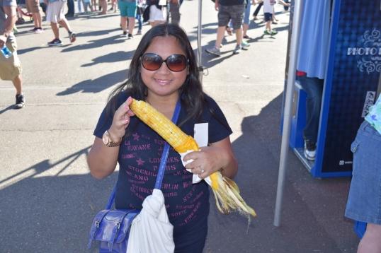 enjoying some buttery corn