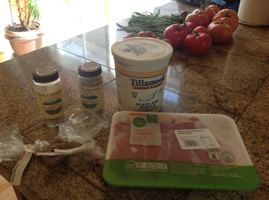 preparing some of the ingredients