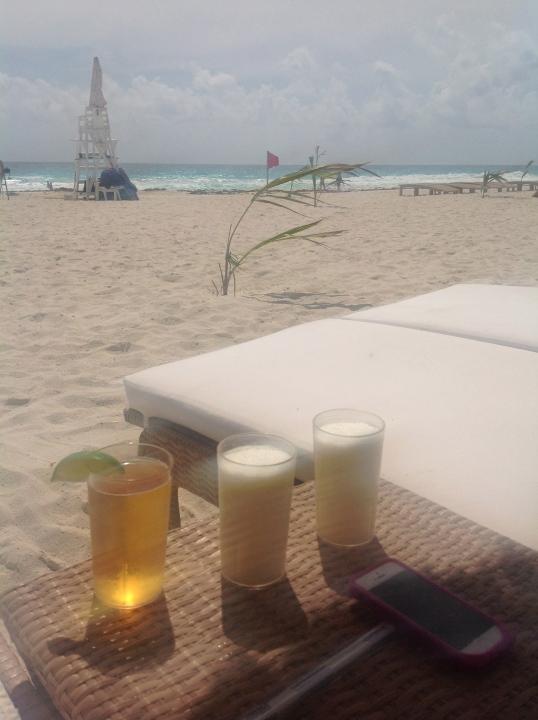 beer and pina colada