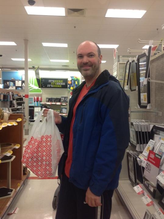 LOL! black friday shopping at target!