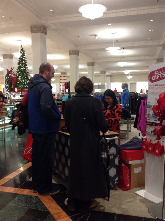 Buying Frango Chocolates at Macys