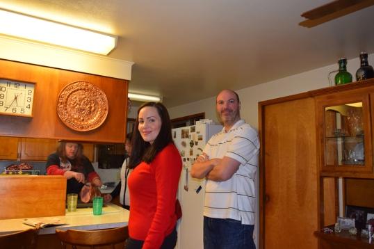 Christmas Eve dinner (Hubs and his Sis Julia)