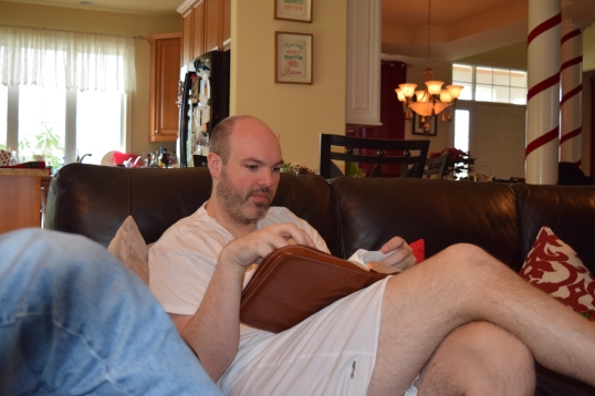 We read the story surrounding Jesus birth (i think we read in the Hebrews). My Hubs was reading..