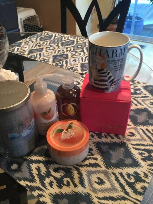 Home goods! I got a Kate Spade mug (she partnered with Lenox in this mug)
