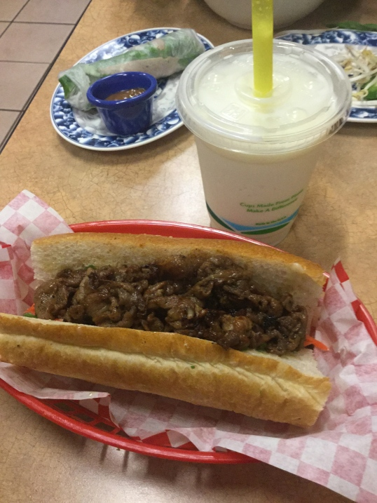 My hubs is not a big Pho fan so he always gets their sandwich and durian shake