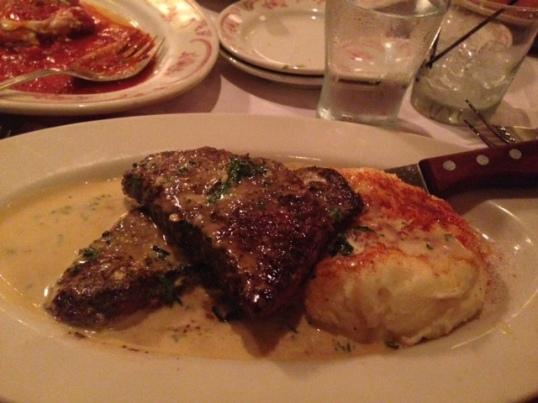 My steak and mashed potato