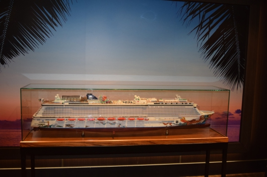 replica of our cruise ship