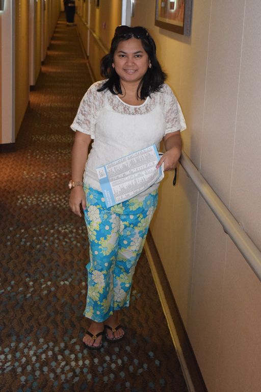 Sea Day! so I wanted casual attire. Top:Maurices, Pants: Lilly Pulitzer, Tory Burch flipflops