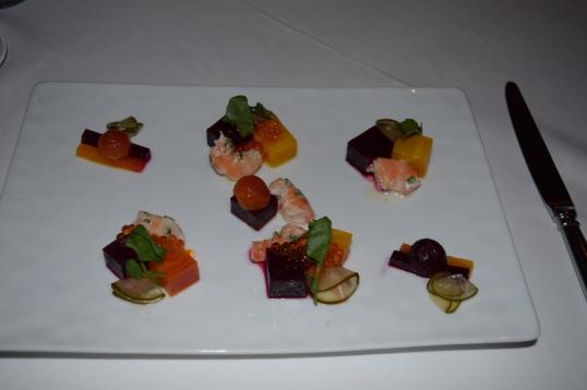 beet salad with caviar