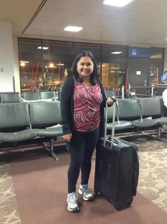 We took a red flight so I wanted to be comfy; leggings and sweater: Target, Talbots top, Brooks running shoes