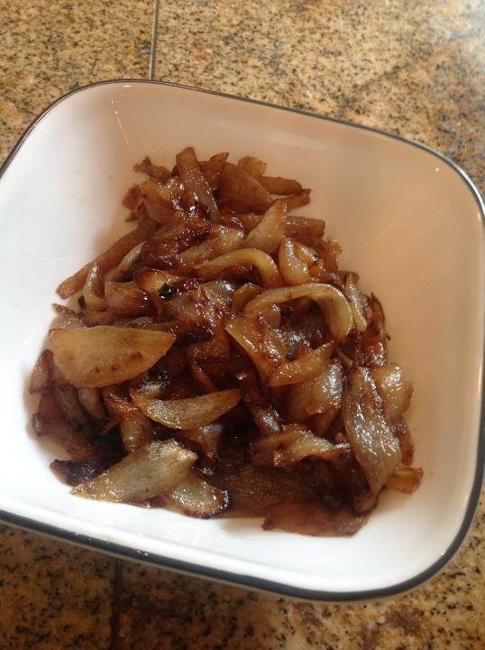 I made caramelized onions