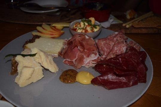 Meat and Cheese platter! I love their Parmesan and Prisciutto