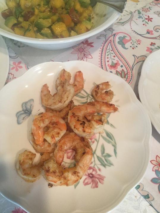grilled shrimps for tacos