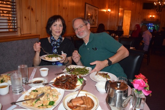 Parents In law, we had chinese food after the Ballet
